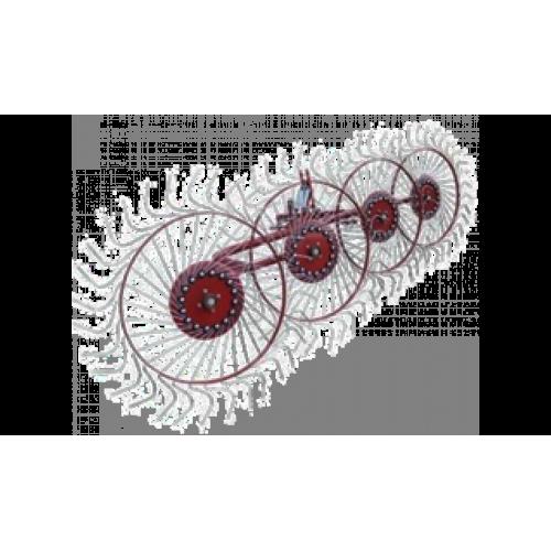 Граблі колісно-пальцеві 4 колеса «Сонечко» Польща