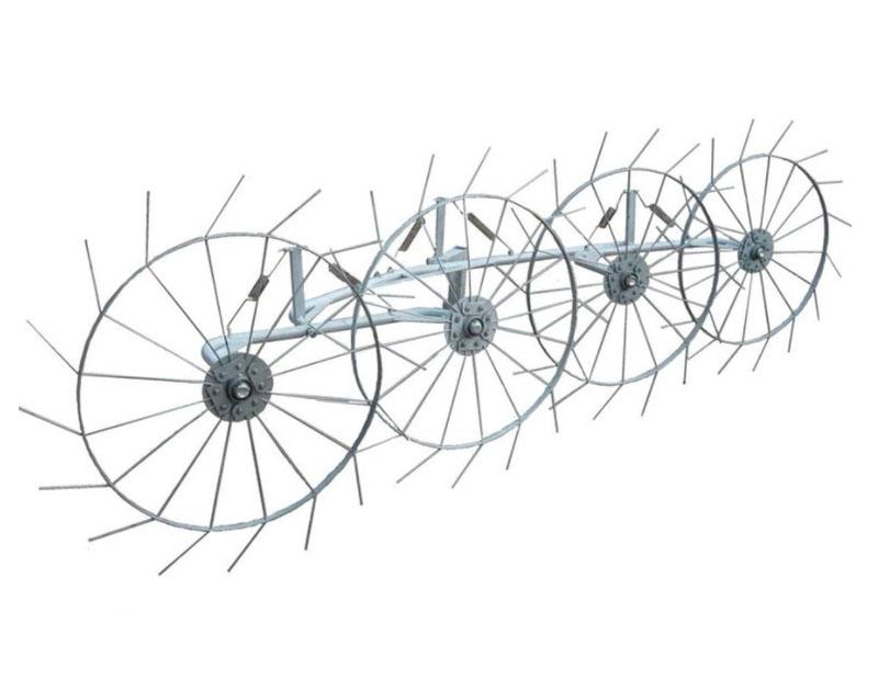 Грабли колесно-пальцевые «Солнышко» 4 колеса, Украина